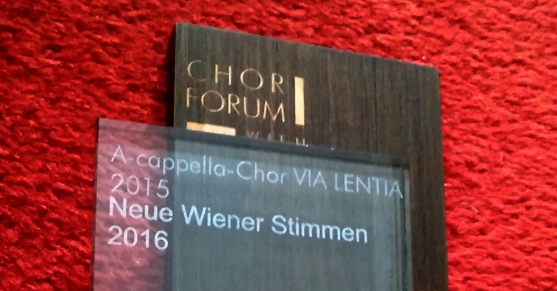 NEUE WIENER STIMMEN – Chor des Jahres 2016!